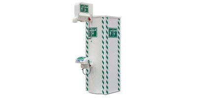 Hughes Safety - Model STD-TCH-100KS-11K (German Only - DVGW) - Temperature Controlled Emergency Safety Shower with Eye/Face Wash