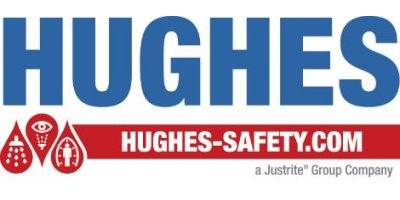 Hughes Safety - Model EXP-63GS - Floor Mounted Combination Shower