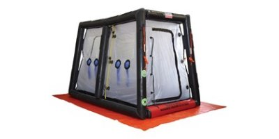 Hughes Safety - Model CUPOLA MK2 - Lightweight Inflatable Walk Through Two-Stage Decontamination Shower Unit