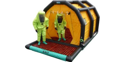 Hughes Safety - Model CUPOLA Decon 2 MD4 - Rapid Decontamination Unit with Inflatable Frame and Sump