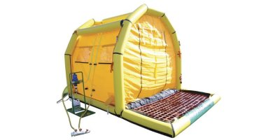 Hughes Safety - Model CUPOLA Decon 2 MD4/S - Rapid Decontamination Unit with Inflatable Frame and Sump