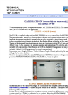 Calib - Model XXX931 - Internal or External Calibrator Systems Brochure