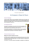 Air analysis in clean air room