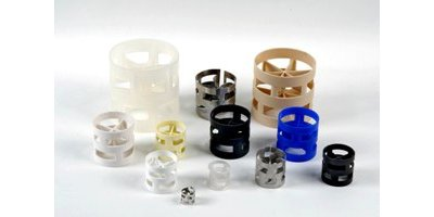 Model Pall Rings - Random Tower Packing