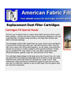 Replacement Dust Filter Cartridges Brochure
