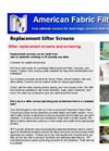 Replacement Sifter Screens Brochure