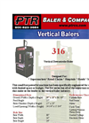 PTR - 316 - Vertical Downstroke Baler Brochure