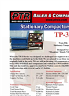 PTR - Model TP-33 - Tram-Pak Stationary Compactor - Cut Sheet