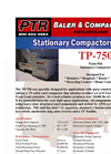 PTR - Model TP-750 - Tram-Pak Stationary Compactor - Cut Sheet