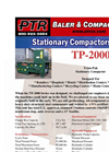 PTR - Model TP-2000 - Tram-Pak Stationary Compactor - Cut Sheet