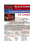 PTR - Model TP-2000HD - Tram-Pak Stationary Compactor - Cut Sheet