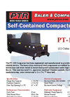 PTR - Model PT-120 - Self Contained Compactors - Cut Sheet