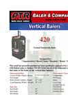 PTR - 420 - Vertical Downstroke Baler Brochure