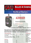 PTR - 420HD - Vertical Downstroke Baler Brochure