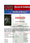 PTR - 1800HD - Vertical Downstroke Baler Brochure