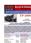 PTR - Model TP-2000SP - Tram-Pak Stationary Compactor - Cut Sheet