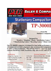 PTR - Model TP-3000HD - Tram-Pak Stationary Compactor - Cut Sheet