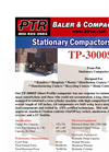 PTR - Model TP-3000SP - Tram-Pak Stationary Compactor - Cut Sheet