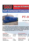PTR - Model PT-300 - Self Contained Compactors - Cut Sheet