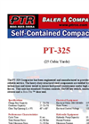 PTR - Model PT-325 - Self Contained Compactors - Cut Sheet