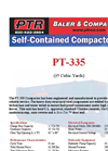PTR - Model PT-335 - Self Contained Compactors - Cut Sheet