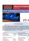 PTR - Model PT-350 - Self Contained Compactors - Cut Sheet