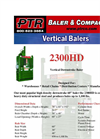 PTR - Model 2300HD - Vertical Downstroke Baler - Cut Sheet