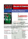 PTR - 3400HD - Vertical Downstroke Baler Brochure