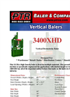 PTR - 3400XHD - Vertical Downstroke Baler Brochure