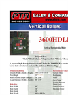 PTR - 3600HDLP - Vertical Downstroke Baler Brochure
