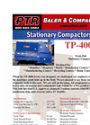 PTR - Model TP-4000 - Tram-Pak Stationary Compactor - Cut Sheet