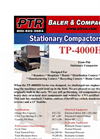 PTR - Model TP-4000HD - Tram-Pak Stationary Compactor - Cut Sheet