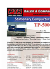 PTR - Model TP-5000 - Tram-Pak Stationary Compactor - Cut Sheet