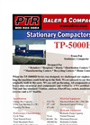 PTR - Model TP-5000HD - Tram-Pak Stationary Compactor - Cut Sheet