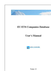 EU - Emissions Trading Scheme (ETS) Companies Database User Manual