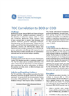 TOC Correlation to BOD or COD Brochure