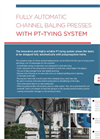 Leaflet fully automatic baling press with Polyrpop tying system