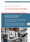 Semi–Automatic H-Type Baling Presses Brochure