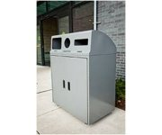 Busch Systems' New Metal Recycling Container Provides Both Fire Resistance and Customized Openings