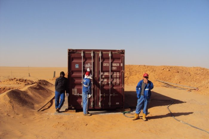 Project - BioContainer oil exsploration in desert i south Libya