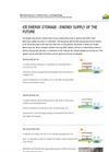 Ice Energy Storage System Brochure