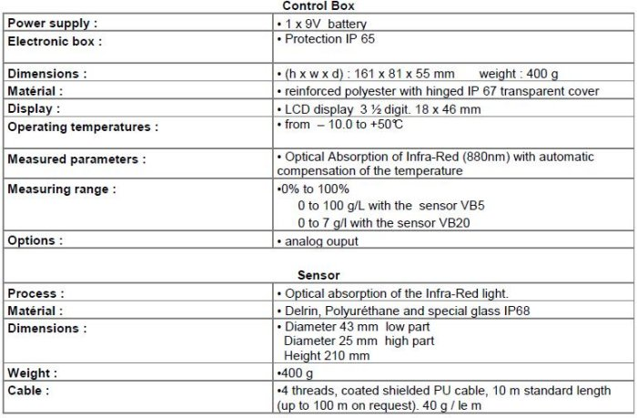 APW-VB - Handheld Instrumentation : APW - Portable Sludge