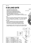 Model H-30 - Cast Iron Line Gates Brochure