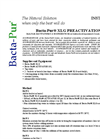 Bacta-Pur XLG Preactivation - Manual