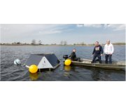 Installation of four ultrasonic algae control systems in a recreational lake in the province of South Holland