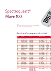 Spectroquant move 100. Overview of pre-programmed methods.