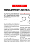 Installation and Maintenance Instructions for 0.25mm and 0.32mm ID Fused Silica Capillary Columns