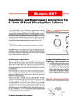 Installation and Maintenance Instructions for 0.53mm ID Fused Silica Capillary Columns