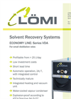 Economy Line - Model VDA - Solvent Recovery Systems Brochure