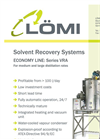 Economy Line - Model VRA - Solvent Recovery Systems Brochure